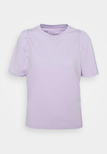 NMSHOUT - T-shirt basic - pastel lilac