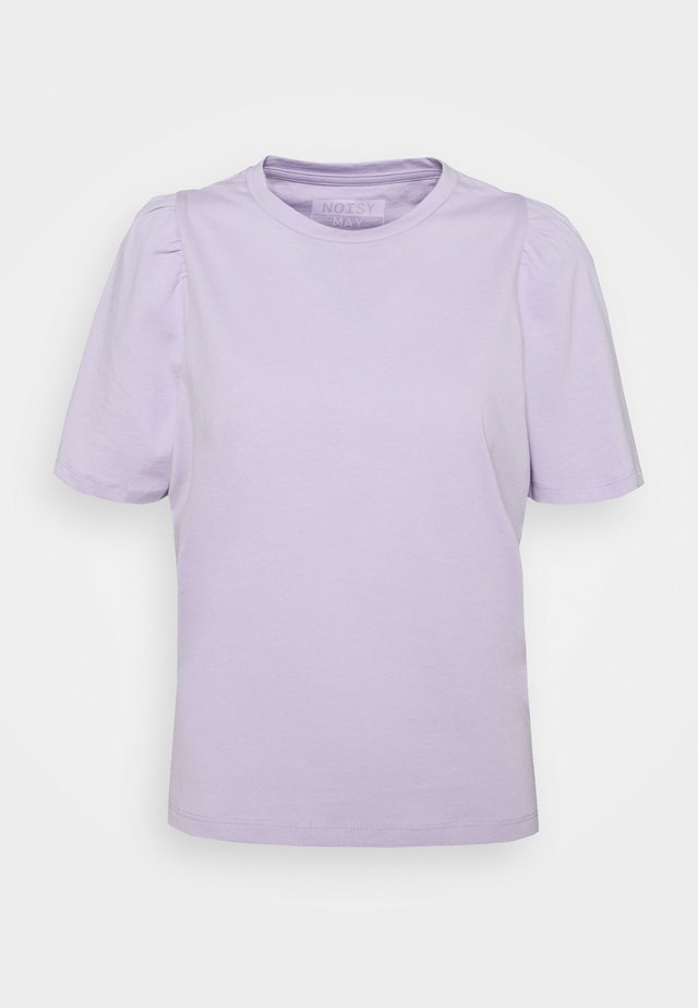 NMSHOUT - T-shirt basic - pastel lilac