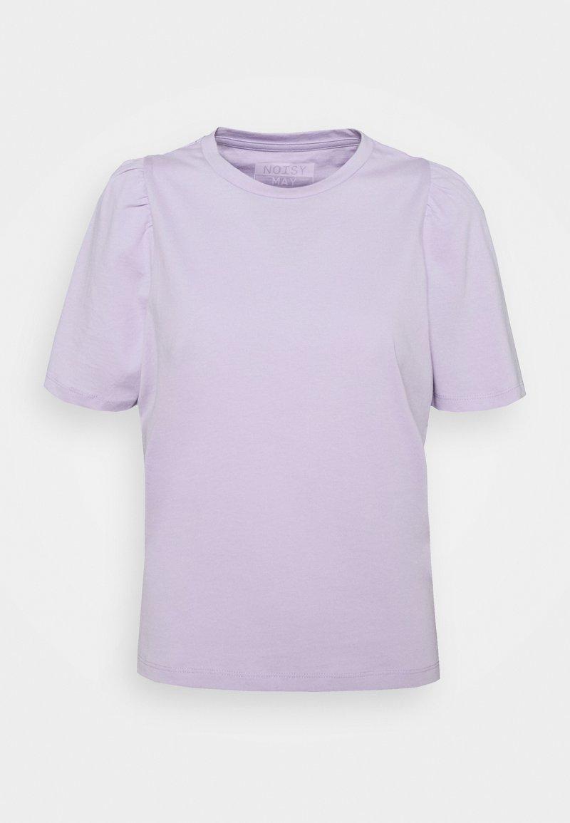 Noisy May - NMSHOUT - Basic T-shirt - pastel lilac