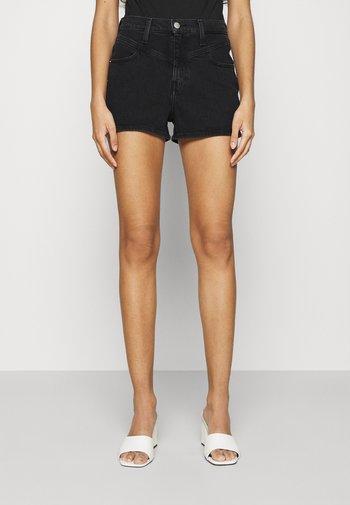HIGH RISE SHORT - Jeansshorts - black