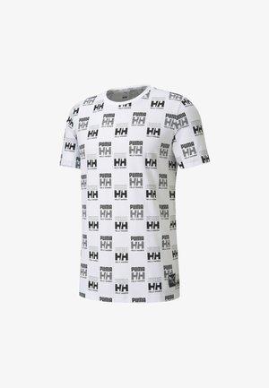 HELLY HANSEN TEE - T-shirt imprimé - puma white