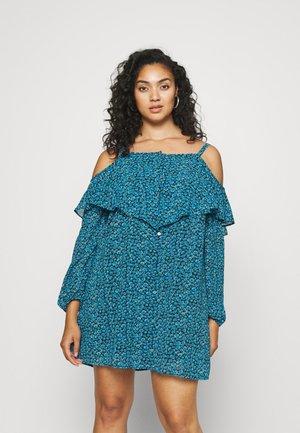 BUTTON THROUGH DRESS - Sukienka letnia - blue