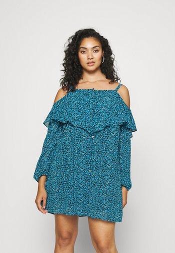 BUTTON THROUGH DRESS - Day dress - blue