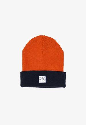 LUCAS - Beanie - orange/navy