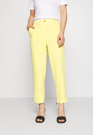 ELASTIC BACK BUTTONED ANKLE GRAZER TROUSER - Trousers - lemon