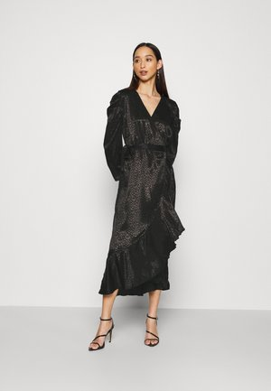 OBJVICTORIA WRAP DRESS - Kjole - black
