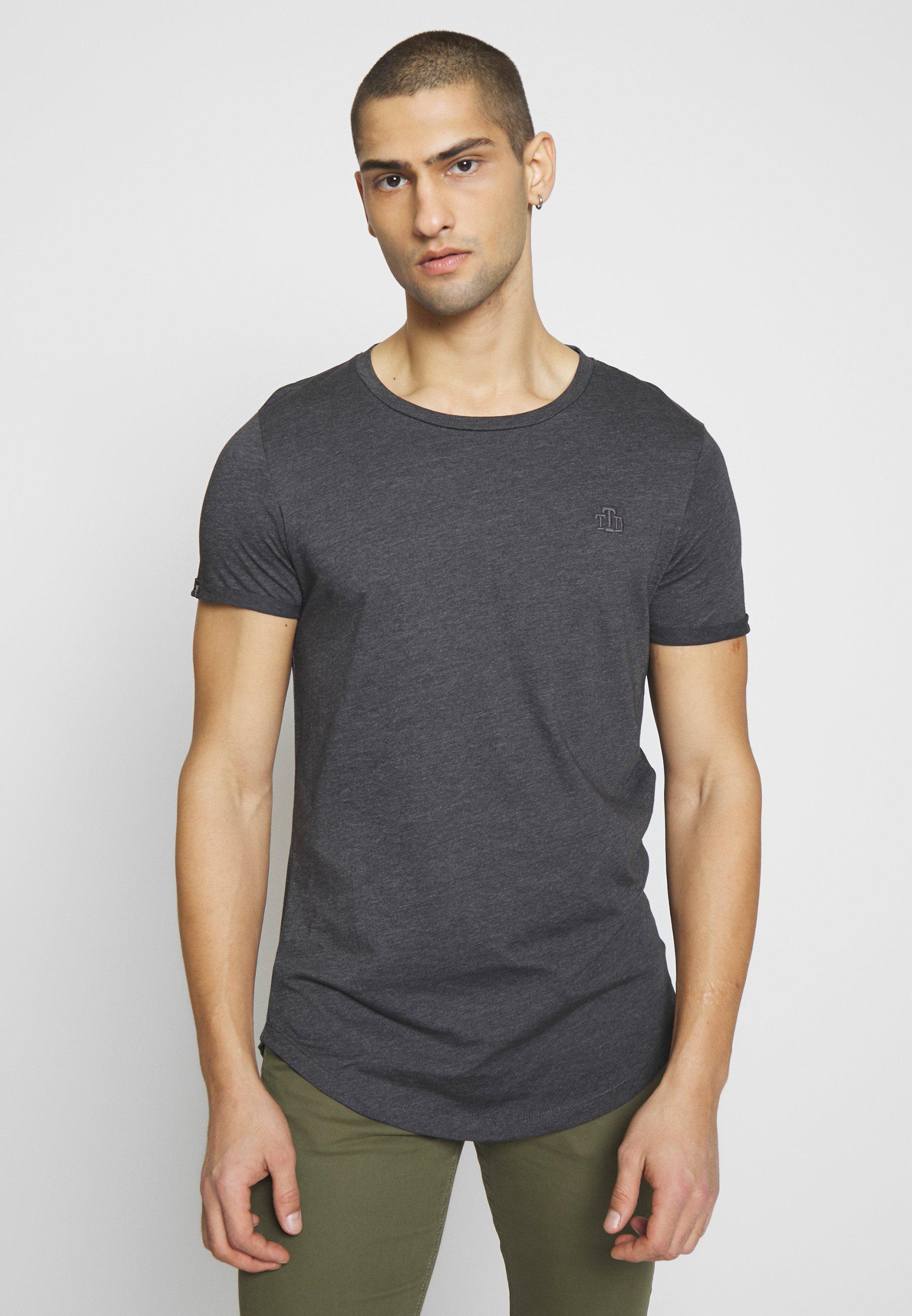 Men LONG BASIC WITH LOGO - Basic T-shirt
