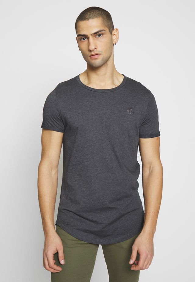LONG BASIC WITH LOGO - T-shirt basic - dark grey