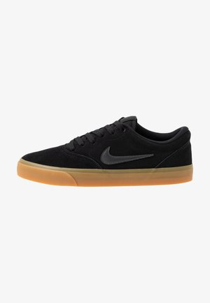CHARGE - Skateboardové boty - black/anthracite/light brown