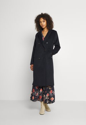 DOUBLE BREASTED BLEND CLASSIC COAT - Classic coat - night