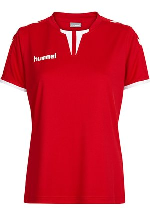 CORE SS - Print T-shirt - true red pr