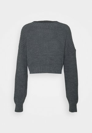 CROPPED CABLE JUMPER - Jumper - grey