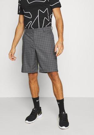 DRY FIT ESSENTIAL PLAID SHORT - Sports shorts - dark grey/black