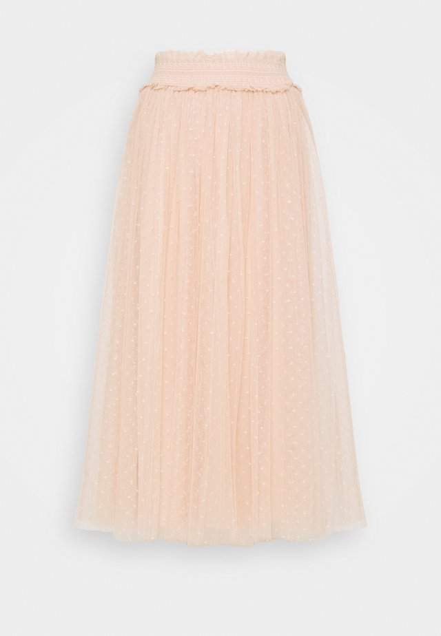 HONEYCOMB SMOCKED BALLERINA SKIRT EXCLUSIVE - A-line skirt - apricot