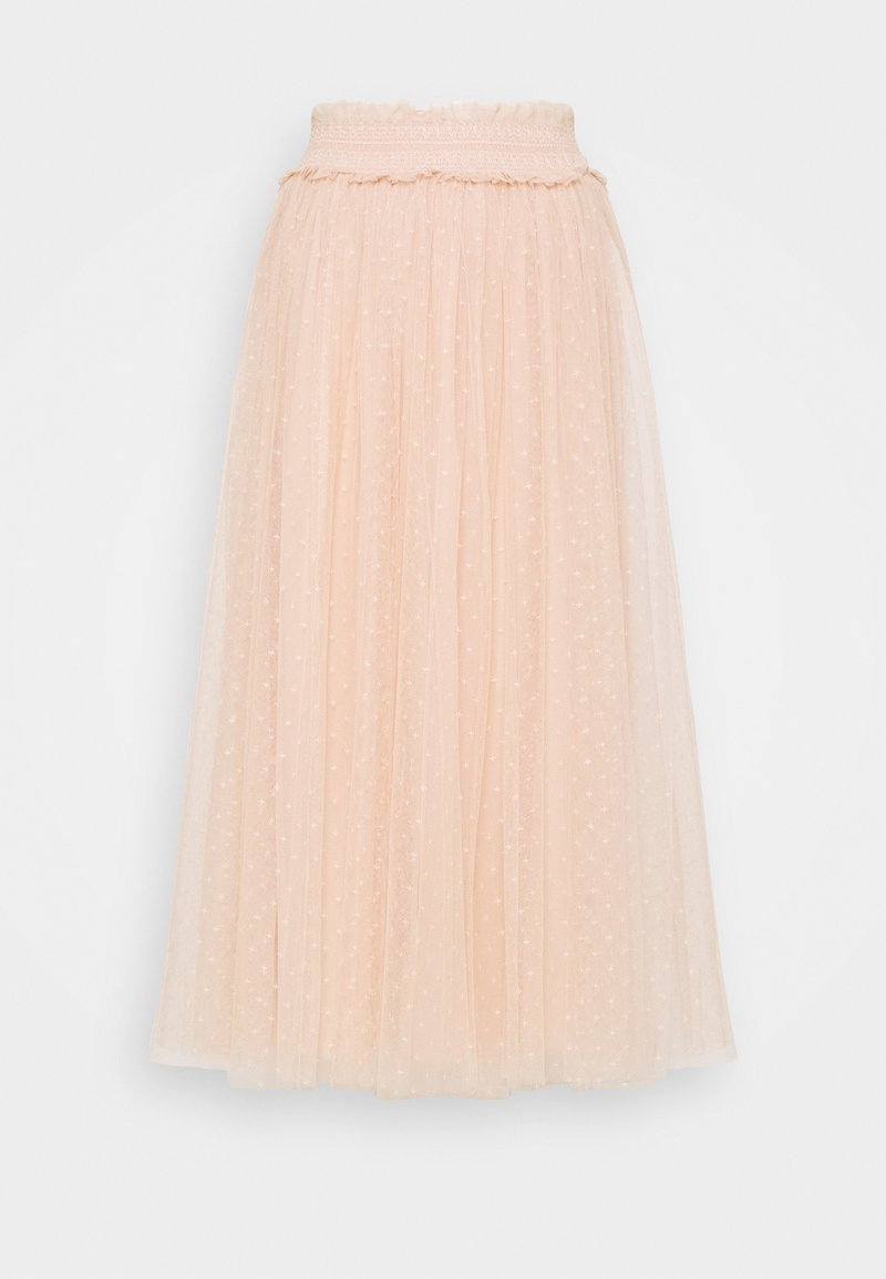 Needle & Thread - HONEYCOMB SMOCKED BALLERINA SKIRT EXCLUSIVE - Áčková sukně - apricot