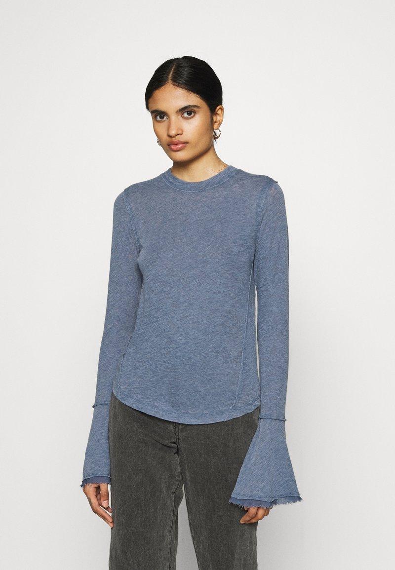 Free People - CECELIA TEE - Long sleeved top - sparkling indigo