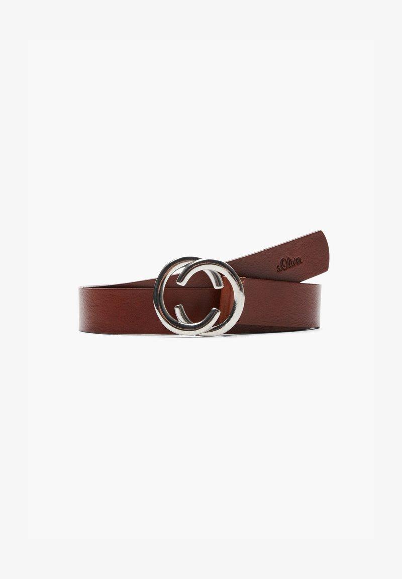 s.Oliver - MIT RING-SCHLIESSE - Belt - brown