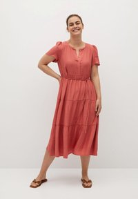 Violeta by Mango - TENCI - Day dress - corail - 1
