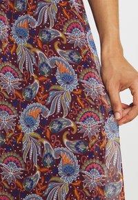 Vila - VIFALIA WIDE MAXI SKIRT - Maxi skirt - winetasting blue - 4
