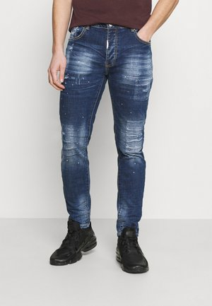 ROSSI SUPER SLIM - Tapered-Farkut - mid wash