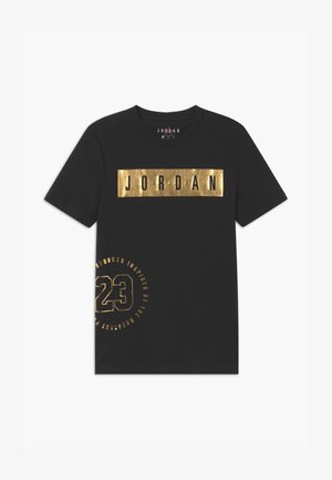 HIGHTLIGHTS UNISEX - T-shirt z nadrukiem - black/gold