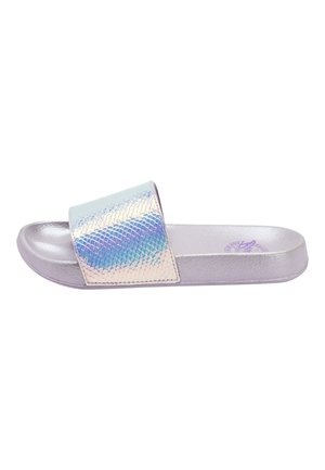 LILAC IRIDESCENT SLIDERS (OLDER) - Sandały kąpielowe - purple