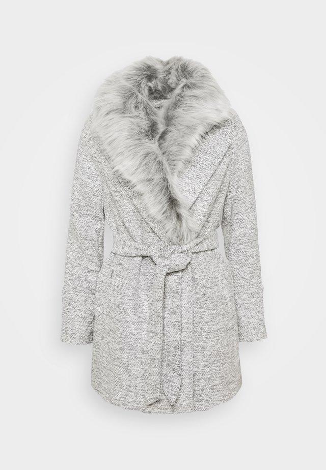 COLLAR COAT - Classic coat - mid grey