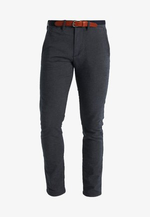 SHXYARD STRUCTURE SLIM FIT - Pantalones chinos - dark sapphire