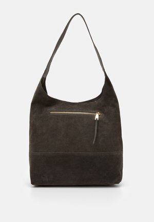 LEATHER - Handbag - anthracite