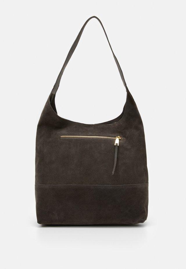 LEATHER - Handbag - anthracite