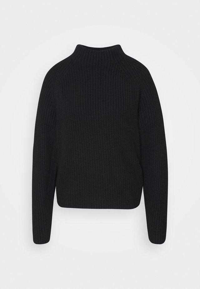SLFBANDANI HIGHNECK - Stickad tröja - black
