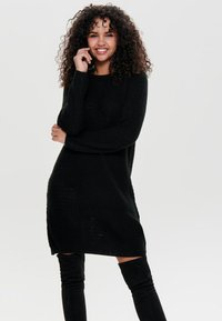 JDY - JDYTERI LS DRESS - Strikkjoler - black - 0