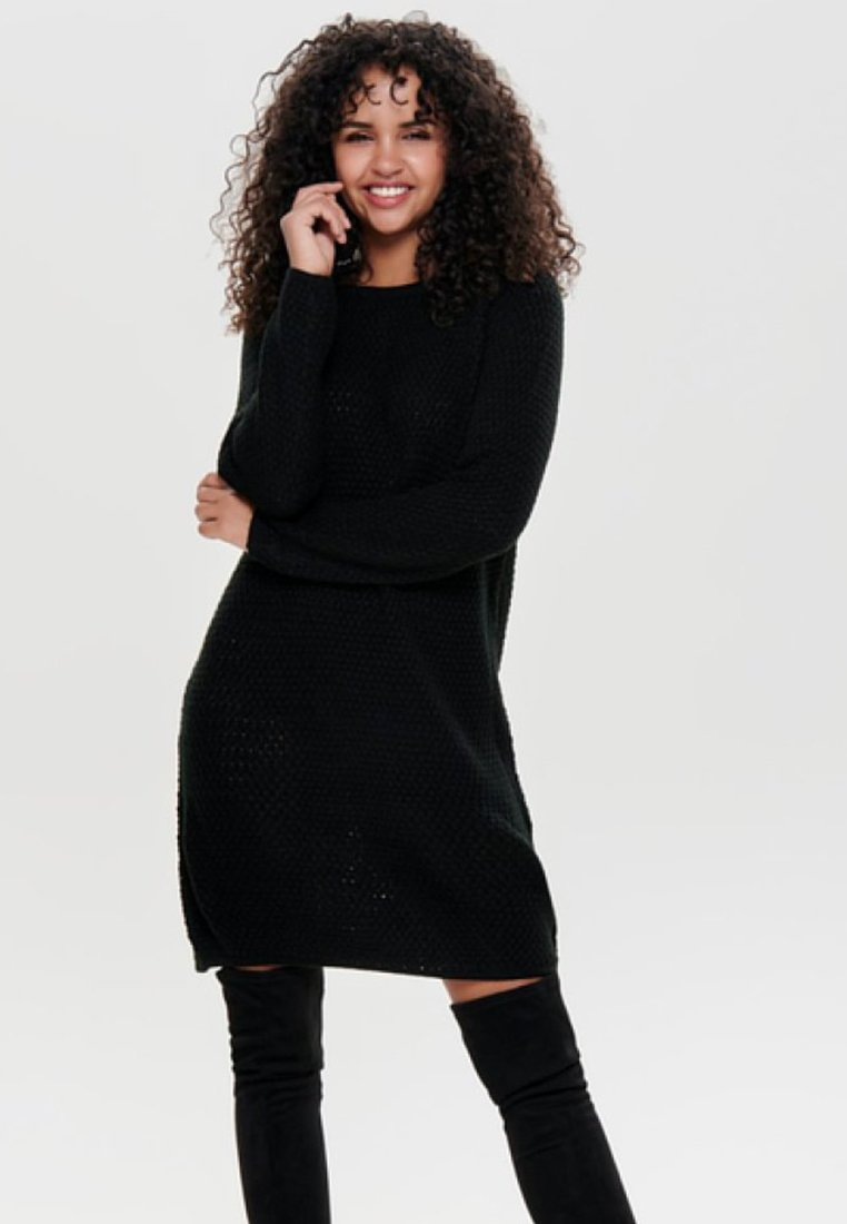 JDY - JDYTERI LS DRESS - Strikkjoler - black