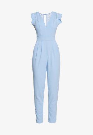 RUFFLE SLEEVE - Jumpsuit - powder blue