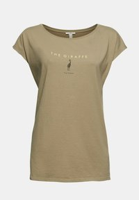 edc by Esprit - Print T-shirt - light khaki - 9