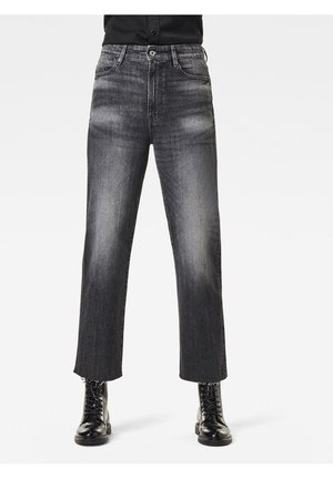 TEDIE ULTRA HIGH STRAIGHT ANKLE - Straight leg jeans - black denim