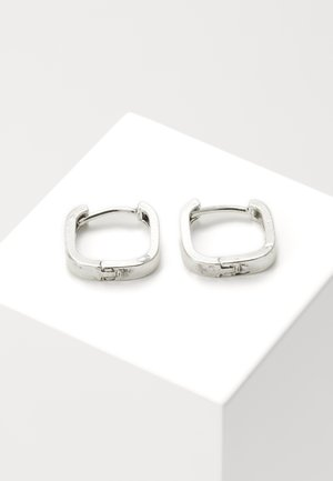 SQUARE HOOP EARRINGS - Kolczyki - silver-coloured
