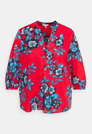 VOILE FLORAL BLOUSE - Pusero - hot house/fireworks