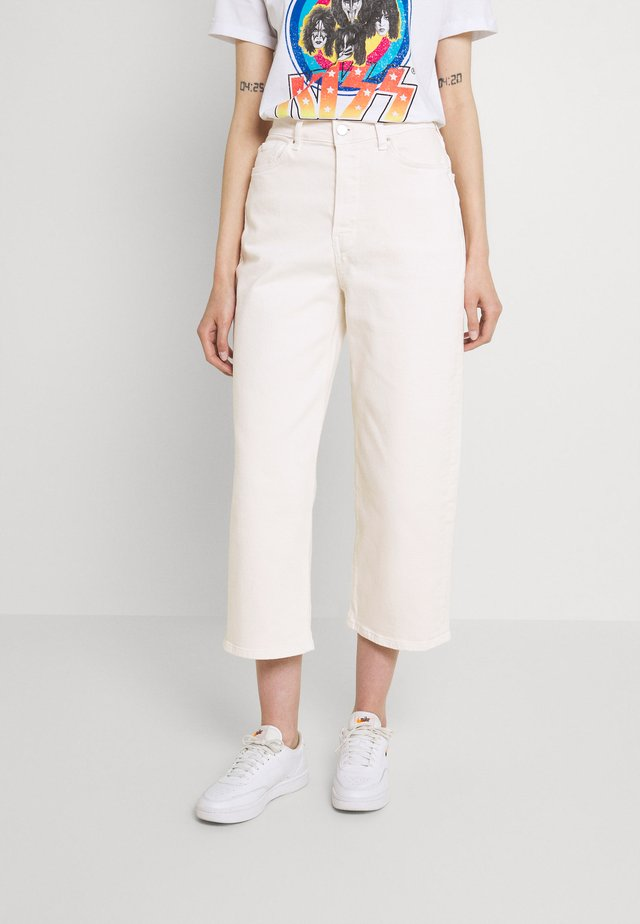 Wide leg cropped jeans - Straight leg jeans - white