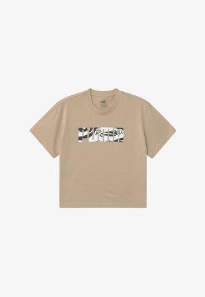 PUMA X ZALANDO GIRLS TEE - Camiseta estampada - sesame