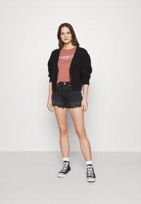 Abercrombie & Fitch - LOGO TEE - Print T-shirt - dark pink - 1