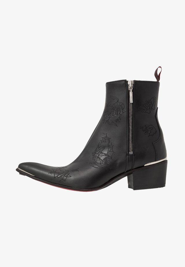 VEGAN SYLVIAN - Cowboy/biker ankle boot - black