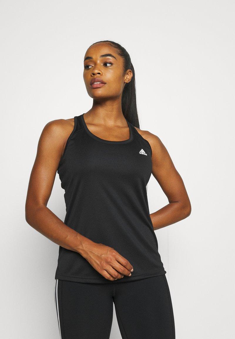 adidas Performance - T-shirt de sport - black/white