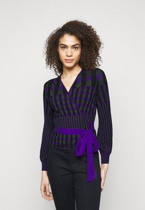 EMILY WRAP - Cardigan - purple/green