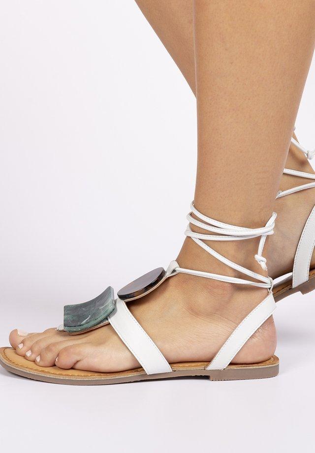 Sandalias de dedo - blanco