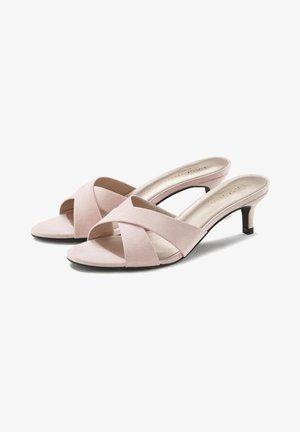 Heeled mules - rosa