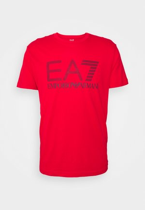 T-shirt con stampa - red/dark blue