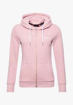 ORANGE LABEL - Zip-up hoodie - sandy pink snowy