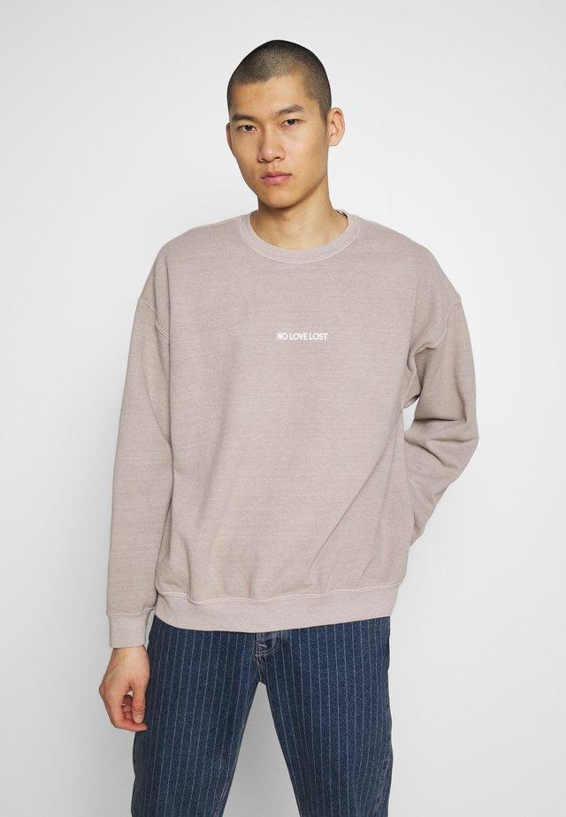 NO LOVE LOST - Sweatshirt - stone