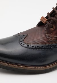 Bugatti - MARCELLO  - Lace-up ankle boots - dark blue/dark brown - 5